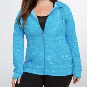 Torrid Active Blue Space Dye Zip Up Hoodie Size 3X